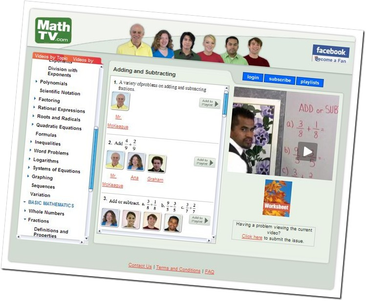 Lezioni di matematica, in inglese e spagnolo, gratuite