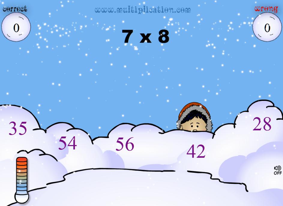 Palle di neve per imparare le tabelline