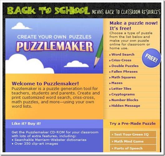 Puzzlemaker, per creare indovinelli, labirinti, parole crociate e altro, gratis