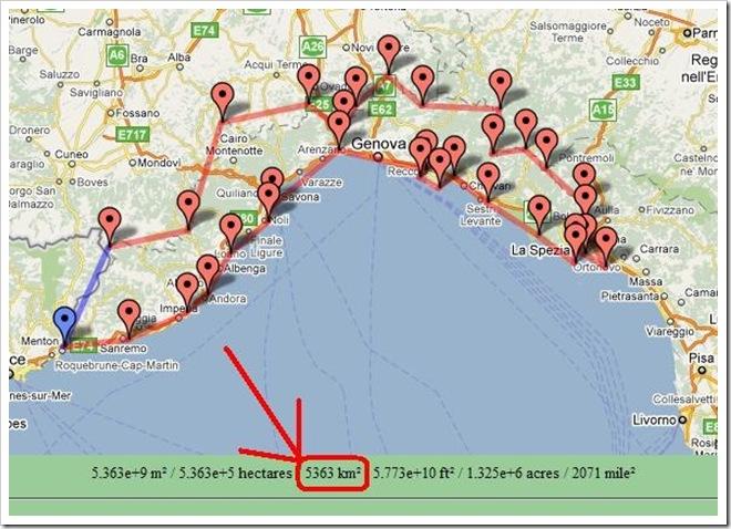 Misurare le aree in Google Maps