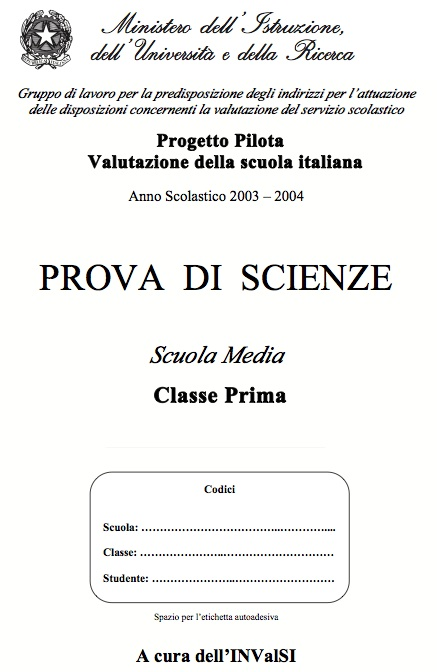 Prove Invalsi di Scienze per la Prima Media