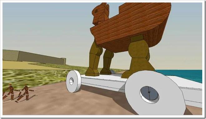 Guerra di Troia in 3D con Google SketchUp