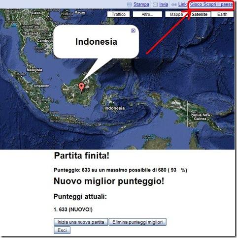 Gioco Scopri il Paese in Google Maps