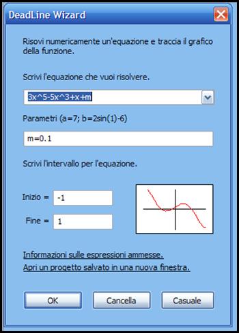 DeadLine programma gratuito che risolve equazioni e traccia grafici