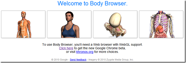 Esploriamo il corpo umano con Google Body Browser