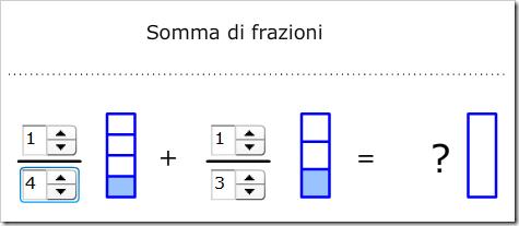 Somma di due frazioni con diverso denominatore