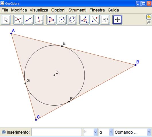 Costruire l'incentro di un triangolo con GeoGebra