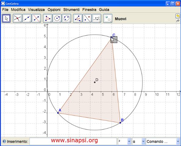 Come costruire il circocentro con GeoGebra