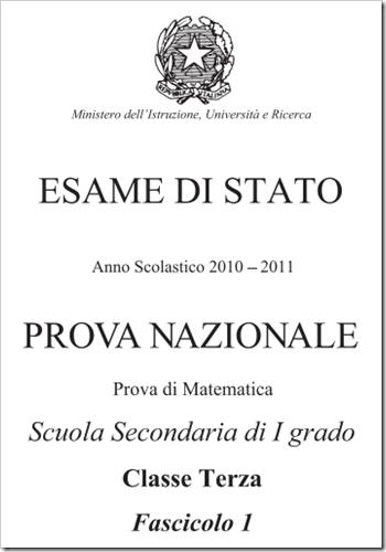 Prove Nazionali Invalsi 2011