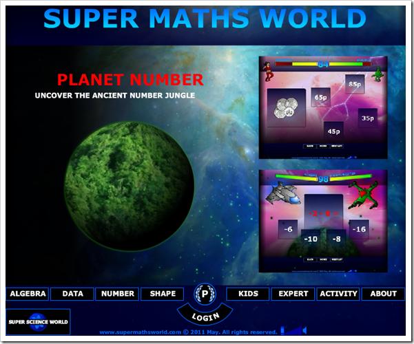 Super Maths World, un mondo di giochi