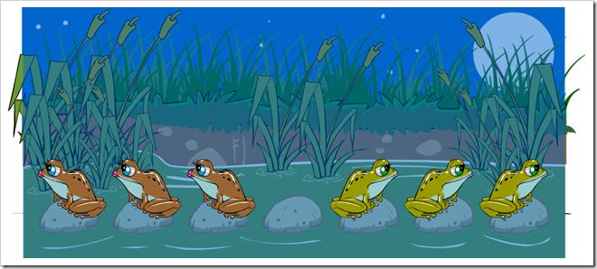 Il rompicapo delle rane e dei rospi