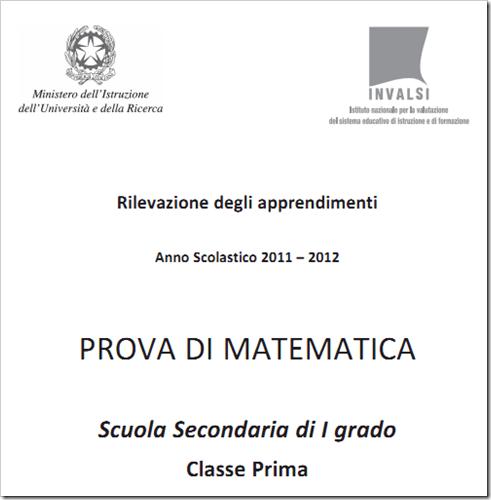 Soluzioni guidate prove Invalsi matematica prima media 2012
