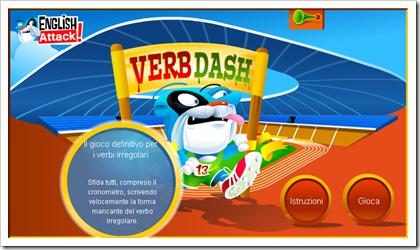 Verb Dash! Gioco per migliorare il tuo inglese