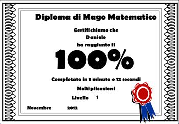 Diploma di Mago della Matematica