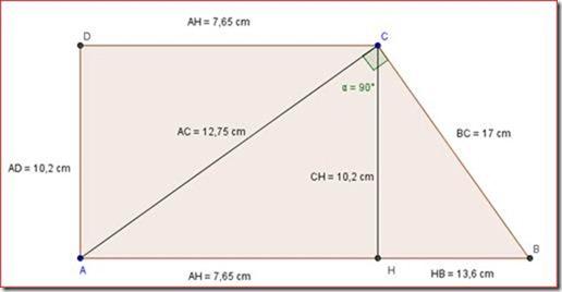 Problema con trapezio rettangolo, seconda media