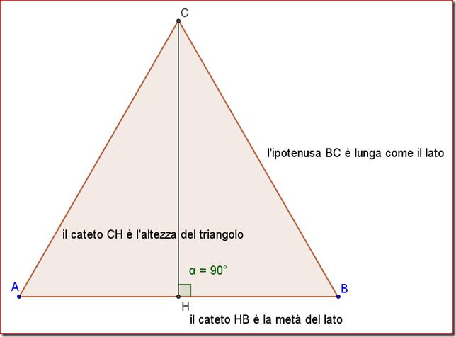 Come calcolare l'area di un triangolo equilatero sapendo il lato