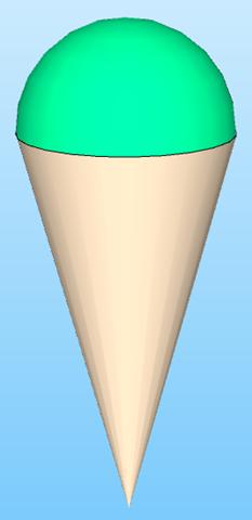 Cono, gelato, sfera, problema di Terza Media risolto