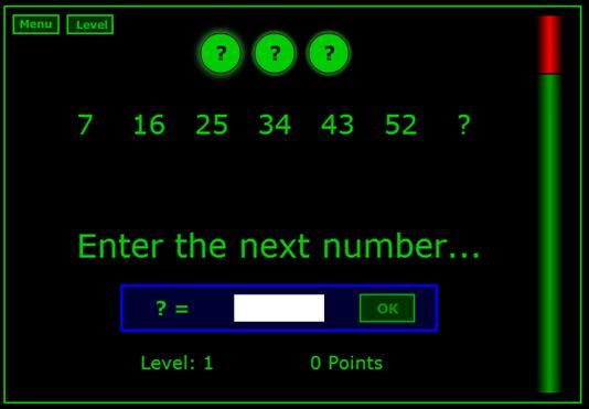 Sequenze numeriche da indovinare