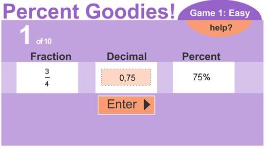Confronta le frazioni con i decimali e le percentuali