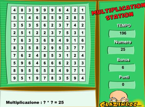 Moltiplicazioni matte, gioco di calcolo mentale