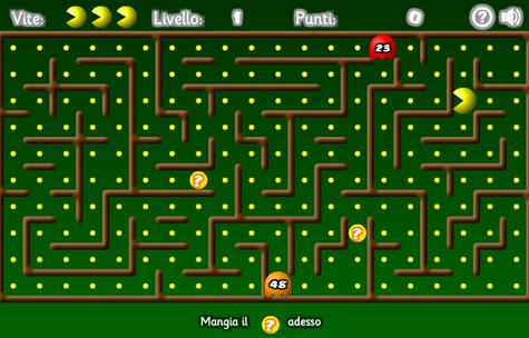 Pac-Mat, mangia i fantasmi numerati
