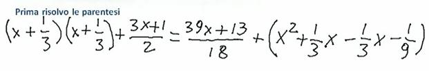 Come risolvere equazioni di primo grado