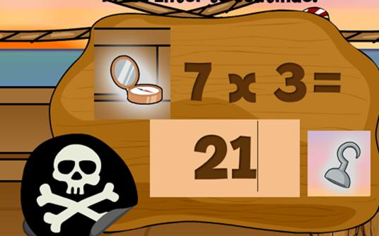 Pirati all'arrembaggio delle tabelline!