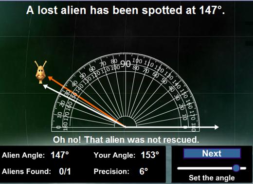 Individua l'angolo e salva l'alieno
