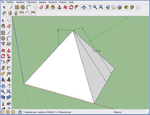 Disegnare una piramide con SketchUp