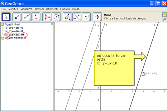 Equazioni di rette parallele