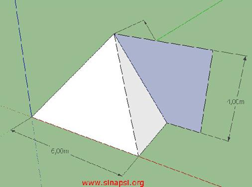 Volume della piramide con SketchUp