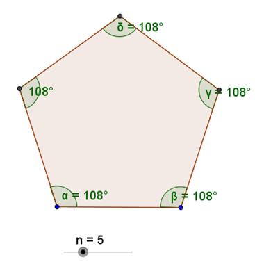 Misura degli angoli interni dei poligoni regolari