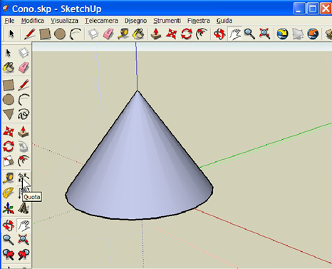 Costruiamo un cono, con SketchUp