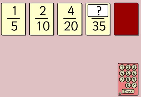 Costruisci le frazioni equivalenti