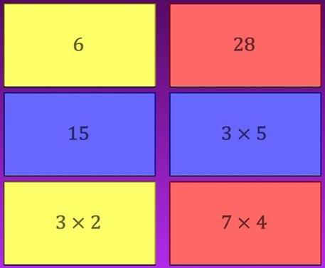 Abbina le moltiplicazioni e impara le tabelline