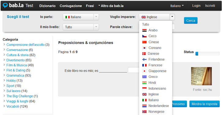 Risorse linguistiche gratuite