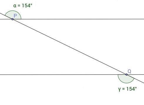 Angoli formati da una trasversale che taglia due parallele
