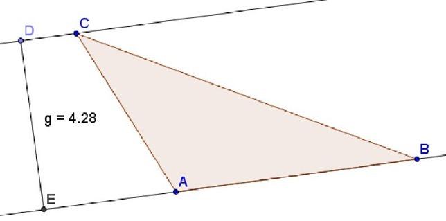 Costruire l'altezza di un triangolo, con Cabrì