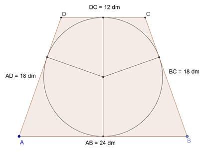 Problema su quadrilatero circoscritto