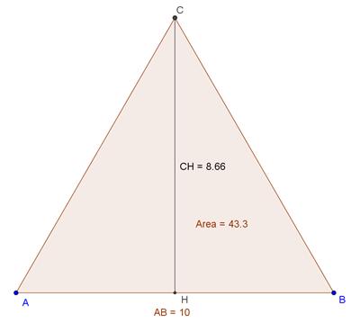 Calcolare i lati di un triangolo conoscendo l'area